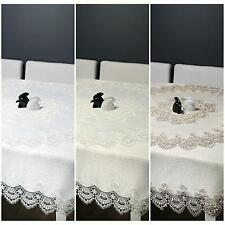 Table Cloth Table Runner Napkins Square with Guipure 088 30x50 60x120 many sizes