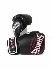 Sandee Cool-Tec Kids Muay Thai Black White & Red Synthetic Leather Boxing Gloves
