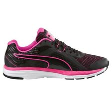 Puma Speed-500 Ignite WOMEN'S RUNNING SHOES, BLACK/PINK - Size US 6, 6.5 Or 7