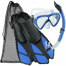 Cressi Bonete Snorkeling Swim Mask Fin Snorkel Set- Choose SZ/Color.