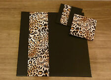 Set Of 4 Luxury FUSION Faux Leather Leopard Print Coasters and/or Placemats