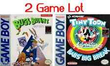 Nintendo GameBoy Lot Bugs Bunny + Tiny Toon Adventures Game Boy Game Games