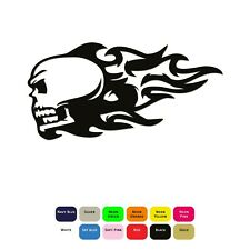 Tribal Flaming Skull Iron On T-Shirt Transfer Clothes Sticker 12 Colours 85mm
