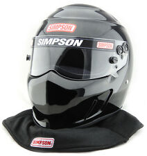 SIMPSON SPEEDWAY DRAG RACING HELMET SNELL SA2015 UK M6 HANS MSA SFI FIA