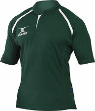 Clearance Line New Gilbert Rugby Xact Shirt Green- Various Sizes