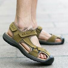 Mens Casual Outdoor sport closed toe real leather beach Summer Sandals@classic