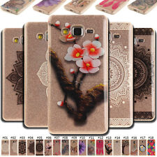 For Samsung Galaxy Rubber TPU Skin Case Clear Protective Cover Painted Soft Back