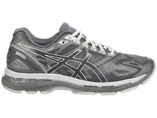 NEW MENS ASICS GEL-NIMBUS 19 RUNNING SHOES TRAINERS CARBON / WHITE / SILVER