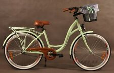 City Bike Town Hydbrid Town Cycle Fuzlu With Basket 3 speed FREE POSTAGE GIFT