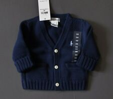 Ralph Lauren Polo Baby Cardigan Sweater Navy Size 0 - 3 Months Genuine NWT
