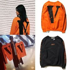 Hot Big V Women Mens VLONE Sweatshirts Solid Street Lover Outer Hip Hop Sweater