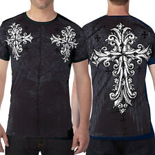 Xtreme Couture Troublesome X1518 Ornate Crosses UFC MMA Mens T-Shirt Black S-4XL