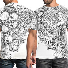 Xtreme Couture Accuser Skulls Skeleton Wings Medieval UFC MMA Mens T-Shirt White