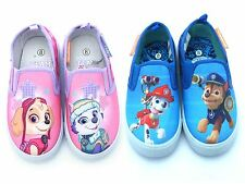 Boys Girls Official Paw Patrol 'Vans Style' Kids Canvas Pumps Trainers Shoes
