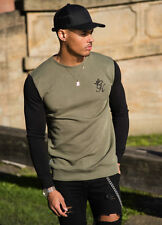 Gym King Crew Neck Sweatshirt Contrast Black Khaki Olive Green