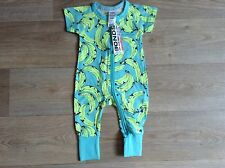 NWT Bonds Baby Boys Bananarama Short Arm Zip Wondersuit Size 000/00 RRP$24.95