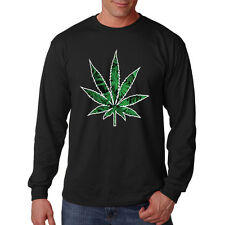 Pot Leaf Marijuana Weed 420 OG Kush Chronic Pot Cannabis Long Sleeve T-Shirt