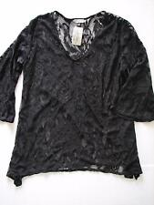 NWT J Valdi Midnight Scroll Lacy Beach Swim Suit Cover Up Dress Tunic Plus Size