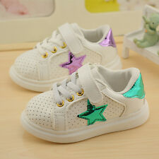 New Unisex Children Little Girls Shoes Baby Fashion Kids Shoes Sneakers Hook