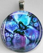 Handmade Interchangeable Magnetic Butterfly #9 Pendant Necklace