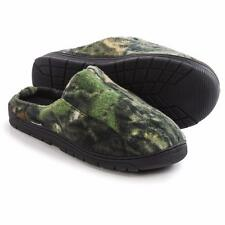 Mens Muk Luks Camouflage Fleece Slippers - Open Back Scuff Style Slippers NeW!
