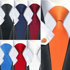 Men's Necktie Jacquard Woven Solid Color Fashion Plain Silk Necktie Party Tie