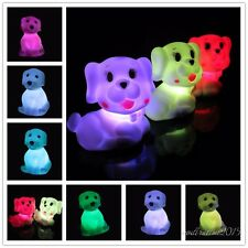 Dog-Shaped Night Light Color Changing LED Light for Home Party Xmas Gift 1pc