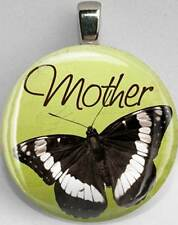 Handmade Interchangeable Magnetic Mother Butterfly #14 Pendant Necklace