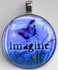Handmade Interchangeable Magnetic Imagine Butterfly #5 Pendant Necklace