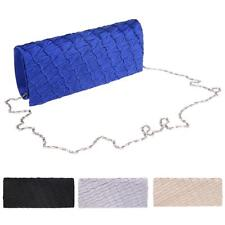 Women Lady Draped Evening Envelope Clutch Bag Purse Chain Shoulder Bag Handbag