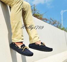 Genuine Suede Leather Driving Moccasin Loafers  Men's Casual Boat Shoes#vogue