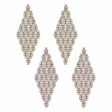 14K Gold or Rose Gold Plated Large Diamond Tiled Crystal Earring