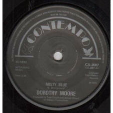 "DOROTHY MOORE Misty Blue 7"" VINYL UK Contempo 1975 Solid Centre B/W Here It Is"