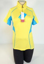 Columbia Sportswear Active Fit 1/4 Zip Yellow Short Sleeve Polo Shirt Women NWT