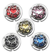 Heart Design Desk Table Crystal Heart Design Purse Handbag Hanger