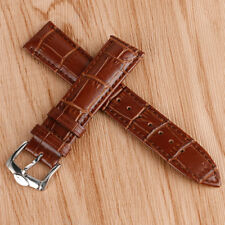 20/22mm Brown Military Watch Strap Band Genuine Leather Soft Watchband Men Sport