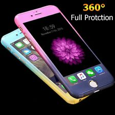 Luxury 360 Degree Full Body Protection Case Cover For iPhone 6 6S With Tempered