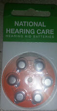 18 or 30 National Hearing Care Hearing Aid Batteries Type 13