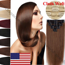 Real Thick 140g++ Hair Extensions Clip In Human Hair Extension Full Head US B214