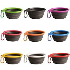 Pet Puppy Dog Cat Silicone Collapsible Travel Bowl Dish Water Food Traval Bowl
