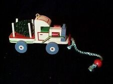 Wood Childhood ornament Wooden Truck sixth in the series 1989 hallmark ornament