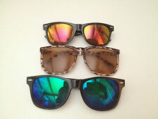 SUNGLASSES~MENS~WOMENS~UNISEX~WAYFARER~100% UV~LEOPARD & BLACK FRAME~POLARIZED