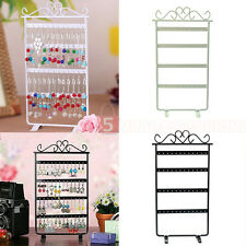 Hot 48 Holes Earrings Ear Studs Display Stand Holder Jewelry Metal Rack Showcase