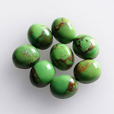 5x3MM Oval Shape, Green Copper Turquoise Calibrated Cabochons AG-213