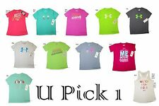 Under Armour T Shirt Tee Top Youth Girls Athletic Sports Teens Short Sleeve
