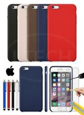 Apple iPhone 6S - Leather Hard Back Case Cover, Stylus Pen & Tempered GLASS
