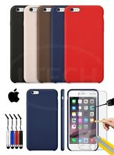 Apple iPhone 6S Plus - Leather Hard Back Case Cover, Mini Stylus& Tempered GLASS
