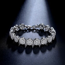 Charming Flower Bracelets Micro Inlay Craft AAA+ Sparkle CZ Crystals Bangle