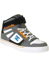 DC Grey-Blue-White Spartan High Ev Kids Shoe