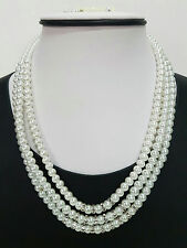 NECKLACE AND EARRING SET 3 IN 1 PEARL #UNE15305WHT
